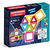 MAGFORMERS Neon (26 Piece) + Bonus Light Building Set, Rainbow