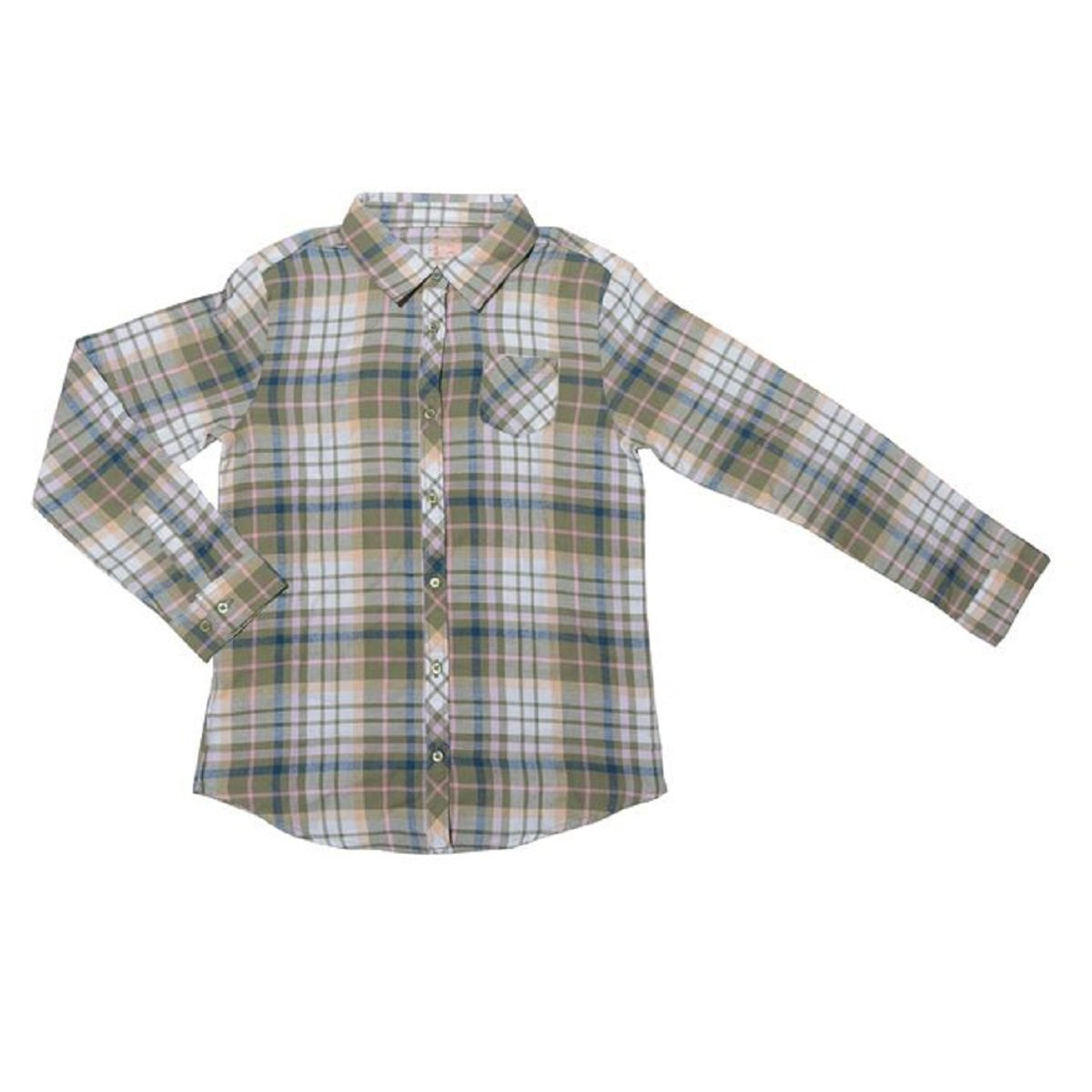 Faded Glory Girls Flannel Button Down Shirt