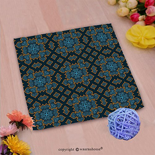 VROSELV Custom Cotton Microfiber Ultra Soft Hand Towel-watercolor hand painted seamless ornamental kaleidoscope moroccan pattern islamic wallpaper Custom pattern of household products(20
