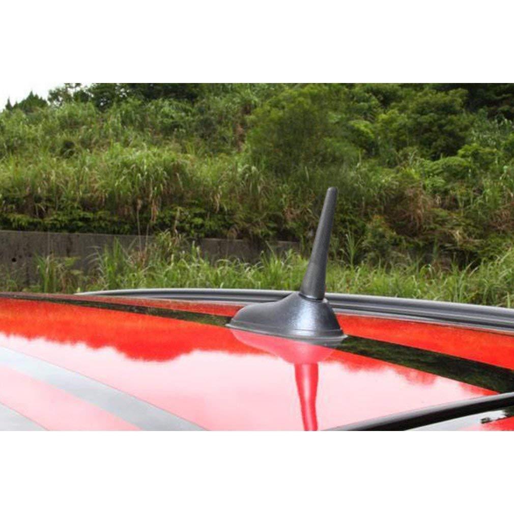 Autoantenne Kurz, Universal Kurzstabantenne Autoradio-Antennenantenne AM/FM-Radio Auto Antennen Kurz Schwarz