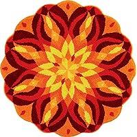 Grund Designer Series Accent/Bath Rug, Knowledge of Self, 32-Inch by 32-Inch, Orange
