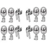 Smart Shophar Stainless Steel Curtain Bracket Rex 90 Silver Pack of 8 Pieces
