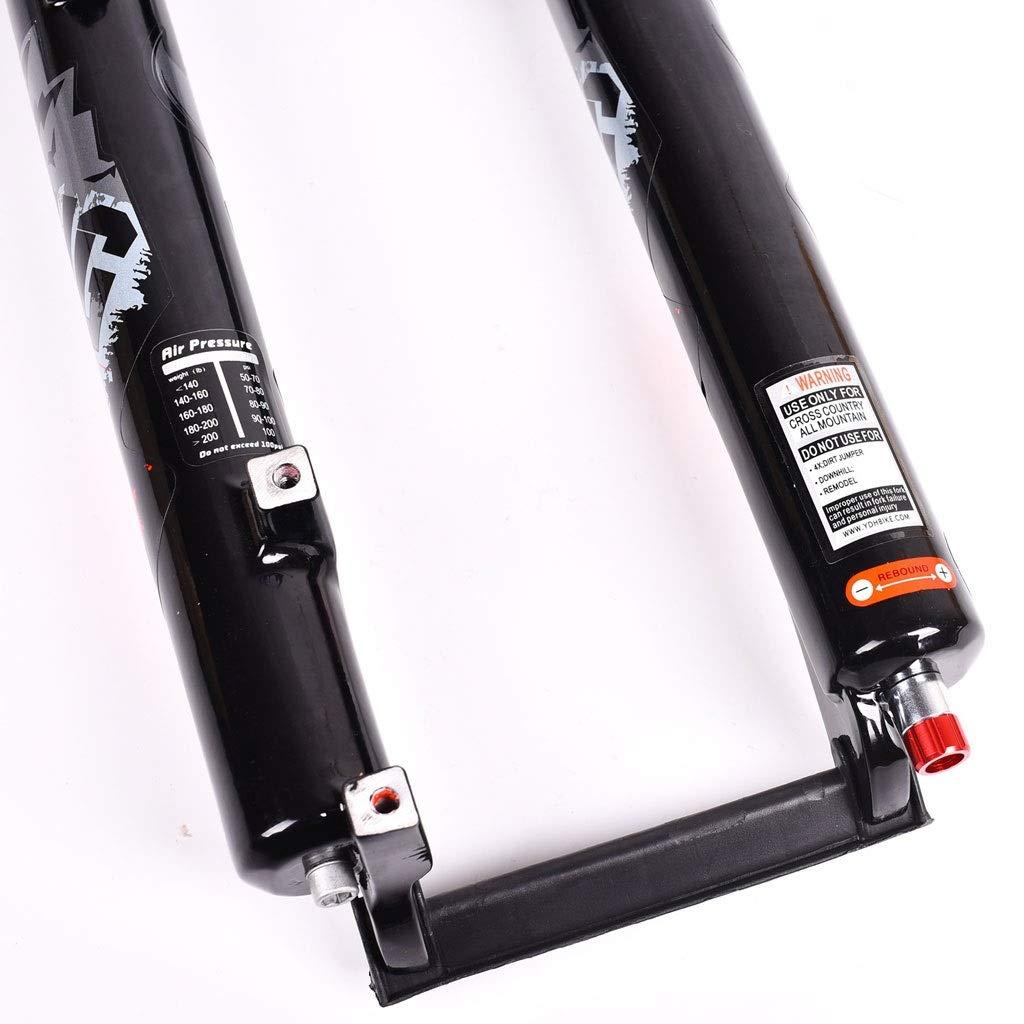 WZ 26 27.5 Horquilla De Suspensi/ón MTB Bicicleta Amortiguador Aire Presi/ón Viaje 120mm 1-1//8 Aleaci/ón De Aluminio Cuesta Abajo Ciclismo Tenedores