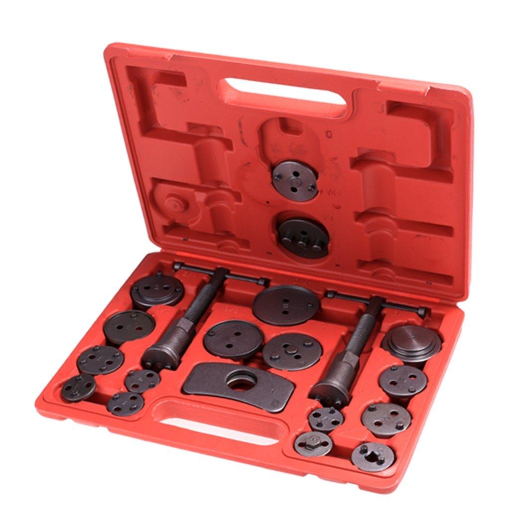 Lantusi Disc Brake Caliper Tool Kit, Pad Caliper Piston Compressor Windback Tool Kit for Disk Brake Pad Replacement, 21pc + Case(US Stock)