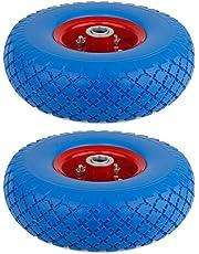 Forever Speed 2X Ruota Ruota Gomma piena con assale Ruota PU Ruota 3.00-4 Ricambio ruota pneumatico tattica