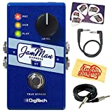 DigiTech JamMan Express XT Looper Pedal Bundle with Instrument Cable, Patch Cable, Picks, and Austin Bazaar Polishing Cloth