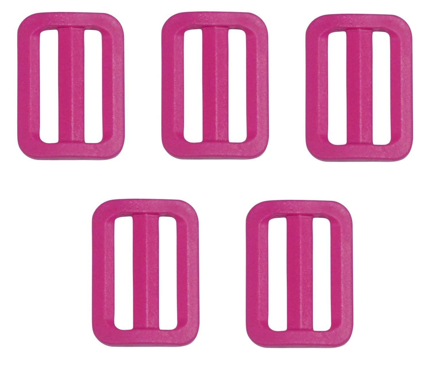 Benristraps 25mm Triglide Slider Buckle (Black, Pack of 2) Musmate Ltd