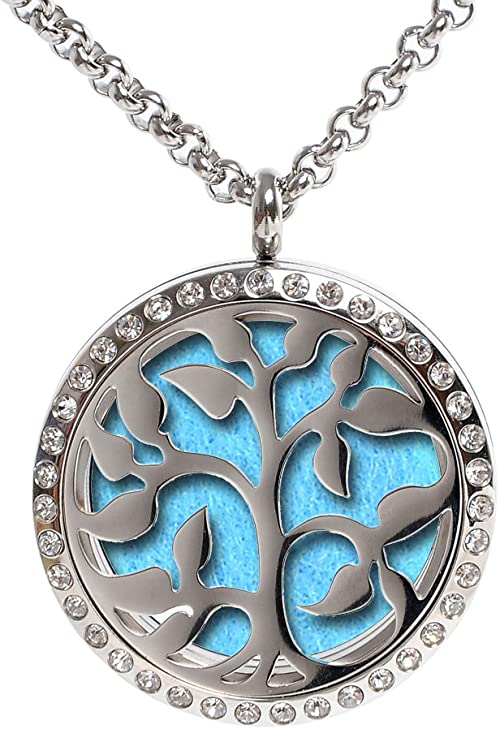K COOL Locket Aromatherapy Locket Necklace Essential Oil Diffuser Star Design