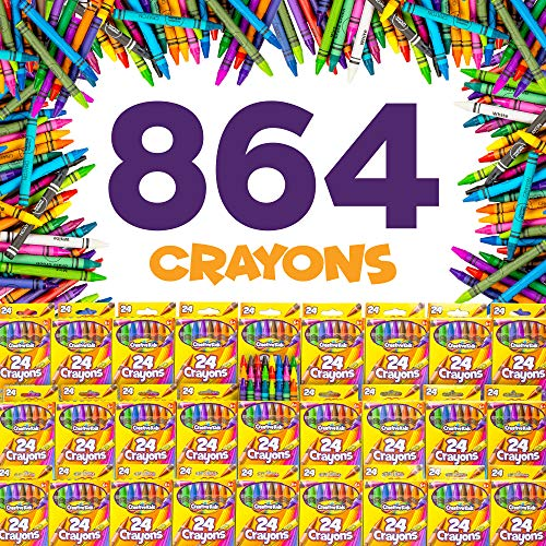 Creative Kids Bulk Classroom Crayons – 36 Packs of 24 Bright, Vibrant Wax Coloring Crayons for Preschool, Kindergarten, Elementary School & Art Class Teachers – ASTM Certified Non Toxic by Creative Kids (Image #2)