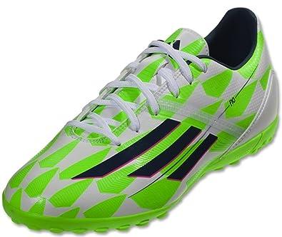 hot sale online f4944 aaf0b adidas F10 TF Football Sneaker Chaussures - Blanc Bleu Vert - Mens - 11.5