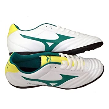 b810aff1c570 Mizuno Fortuna 4 AS P1GD158135 Official 2014-2015 Season Football Shoes,  White / Green