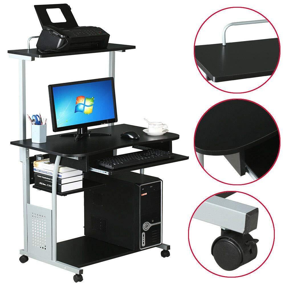 Amazon.com: Estante pequeño para escritorio de ordenador ...
