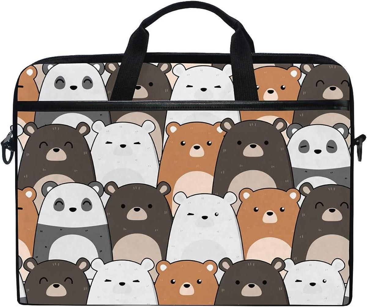 Chic Houses Cute Cat Laptop Bag Case Sleeve for Men Women Cartoon Pattern Waterproof Shoulder Messenger Bag 2030038