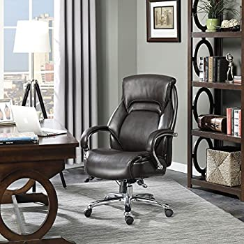 Serta Big U0026 Tall Executive Office Chair, Brown (Supports Up To 500 ...