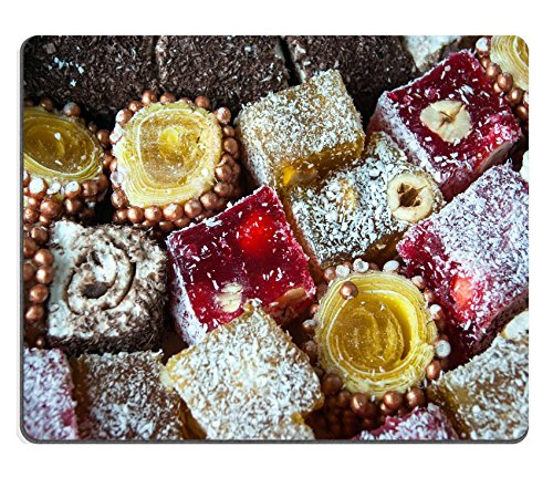 Price comparison product image MSD Mouse Pad Natural Rubber Mousepad IMAGE ID 35018175 Assorted Turkish Delight bars Sugar coated soft candy