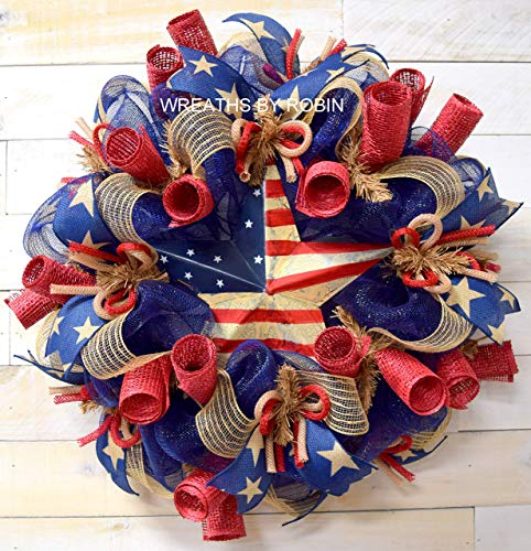 RWB Rustic Wreaths, Patriotic Wreaths (2613)