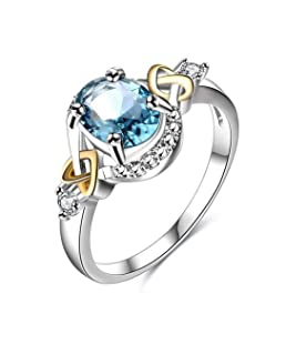 kula Impeccable Exquisite Ring Princess Cut Bling Gemstone Zircon Ring Engagement Ring Princess Ring for Women(None 03)