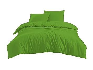Bettwäschegarnituren PüNktlich 3 Tlg Bettwäsche Set Mit Reißverschluss Renforcé Baumwolle 200 X 200 Cm Bettwäsche