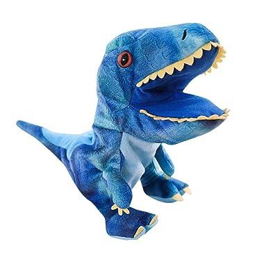 1PC dinosaurio de juguete de felpa dinosaurio marionetas de mano Juguetes Animal de la historieta marionetas de mano con la boca de Trabajo Juegos de rol juguete para niños: Juguetes y juegos