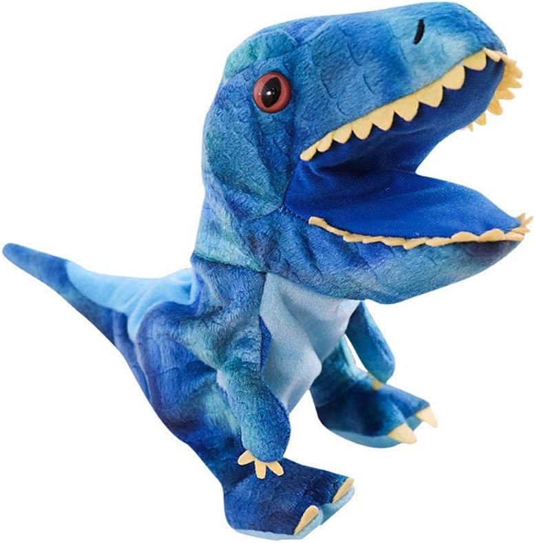 Dinosaurio de juguete de felpa dinosaurio marionetas de mano Juguetes Animal de la historieta marionetas de mano con la boca de Trabajo Juegos de rol juguete para niños
