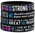 """""""Power of Faith"""" Bible Verse Wristbands - Christian Religious Jewelry Gifts"""