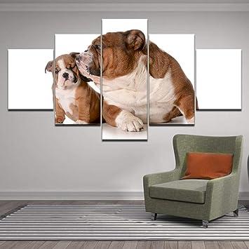 Rkmaster-5 Panel Animal Divertido Mascota Bulldog Impresión ...