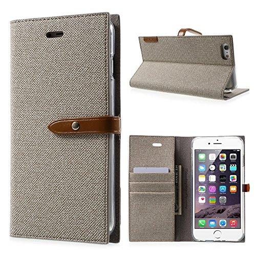 MERCURY GOOSPERY Milano Diary Leather Cellphone Tasche Hüllen Schutzhülle - Case für iPhone 6s Plus / 6 Plus - Khaki