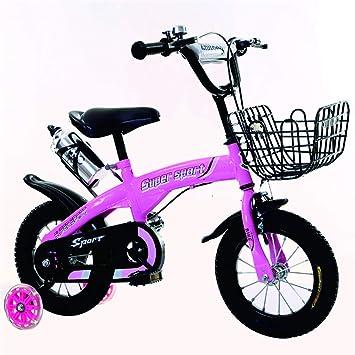 liusa Freestyle Bicicleta Bicicleta para niños 14 Pulgadas/báscula Bicicleta con Rueda de Entrenamiento de Chicos y Chicas ...