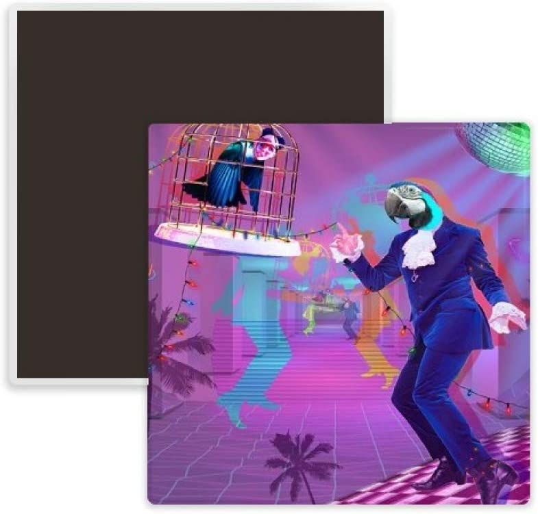 Dance DJ Fantasy Design Square Ceramics Fridge Magnet Keepsake Memento