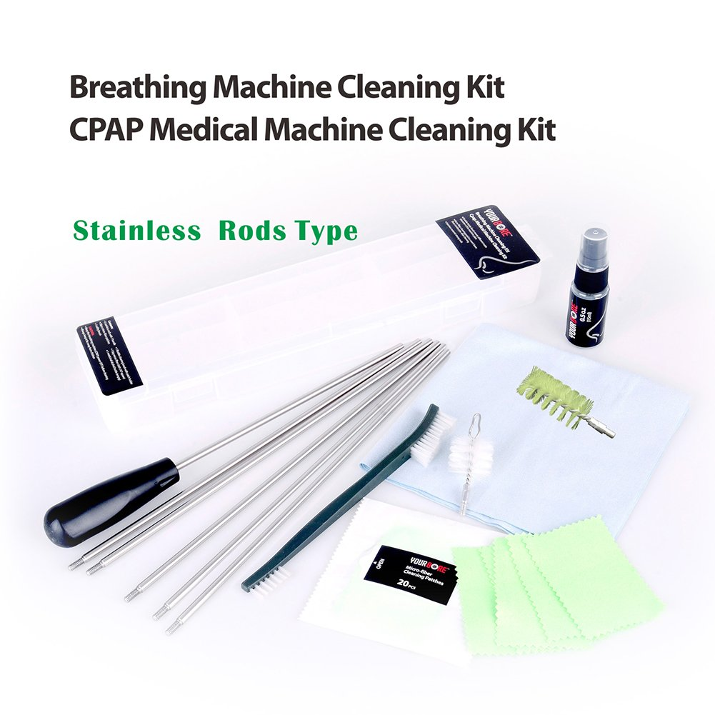 YOURBORE Breathing Machine Cleaning kit CPAP Brush Medical Machine Cleaning kit Stainless Rods Type