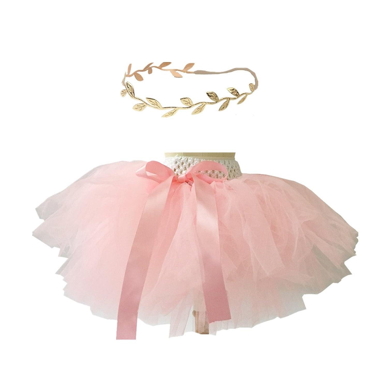 Amazon BBVESTIDO Baby Tutu Skirt and Gold Headband Set 1st