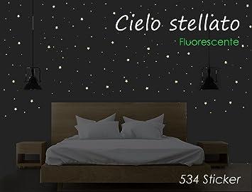 Sternenhimmel - 534 leuchtende Punkte im Dunkeln ...