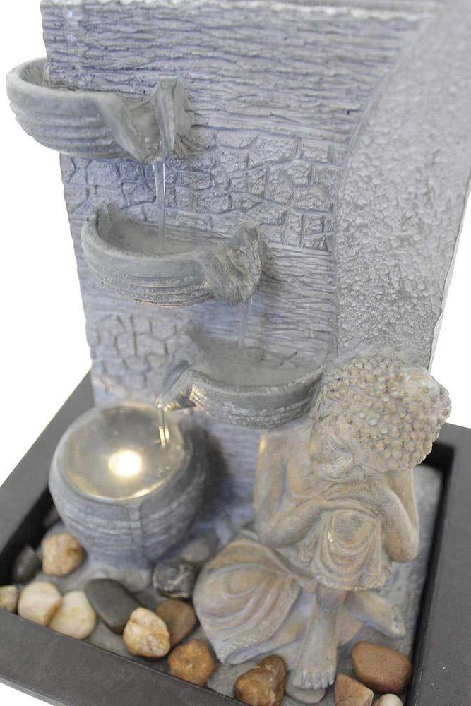 Kiom Fontaine de Table d/éco Fontaine FoBuddha Dormant avec LED 10866