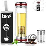 Amazon.com: topoko infusor de té de vidrio de 18.5 oz taza ...