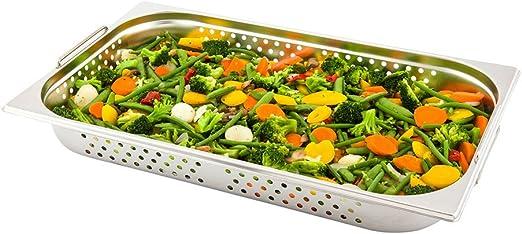 Restaurantware Met Lux Full Size 9 Quart Rectangular Folding Chafer Set Stainless Steel 1ct Box