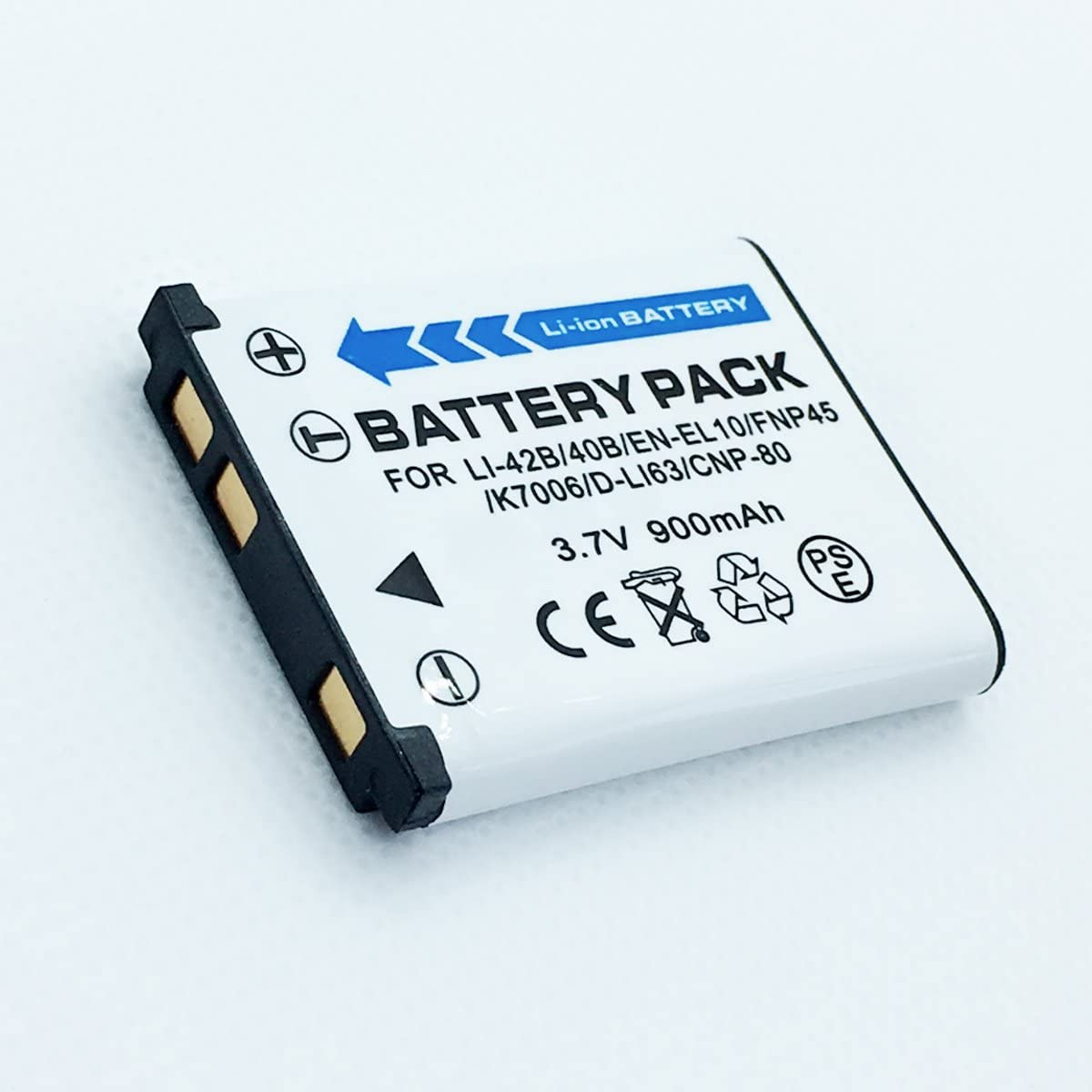 Rechargeable Li-ion Batteries Pack For GE E1410SW, E1450W, E1480W, E1486TW, E1680W Digital Camera