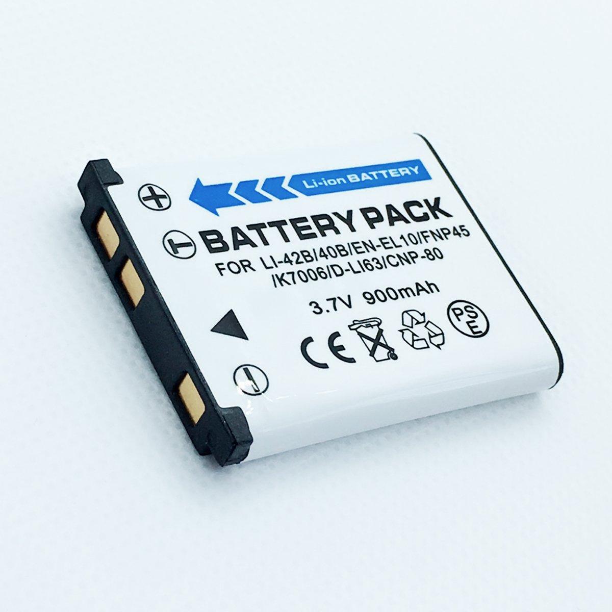 充電式Li - Ion電池パックfor GE e1410sw、e1450 W、e1480 W、e1486tw、e1680 Wデジタルカメラ   B07FW7Z5RJ