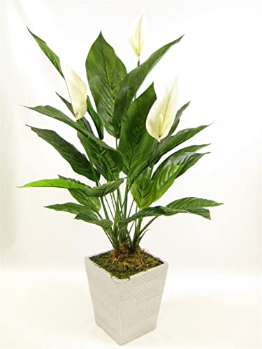 55cm Potted Large Artificial Silk Boston Fern Bush Plant ...
