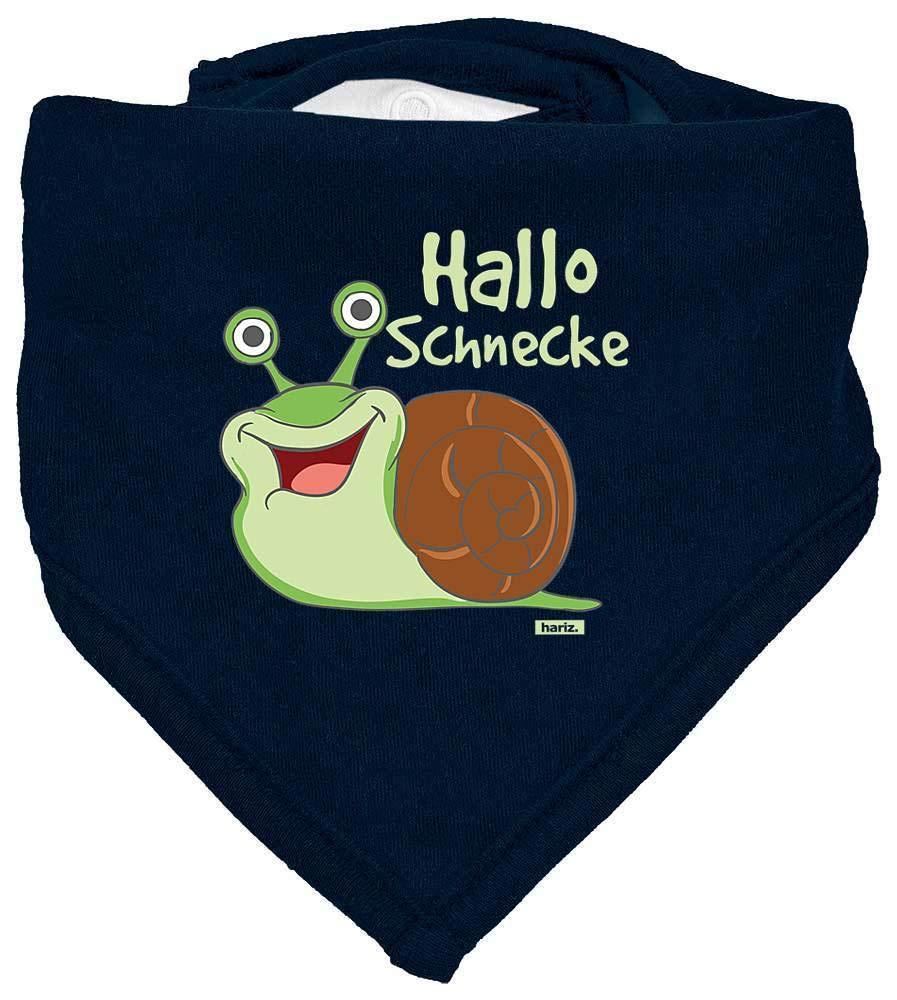 HARIZ Baby Halstuch Hallo Schnecke S/ü/ß Tiere Dschungel Inkl Geschenk Karte Bleistift Grau