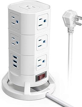 Bestek 12-Outlet Power Strip Surge Protector