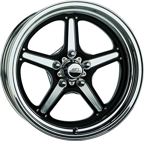 Lite Rim Strip - Billet Specialties BRS035606135N Street Lite Black Wheel15x6 3.5in BS, 1 Pack