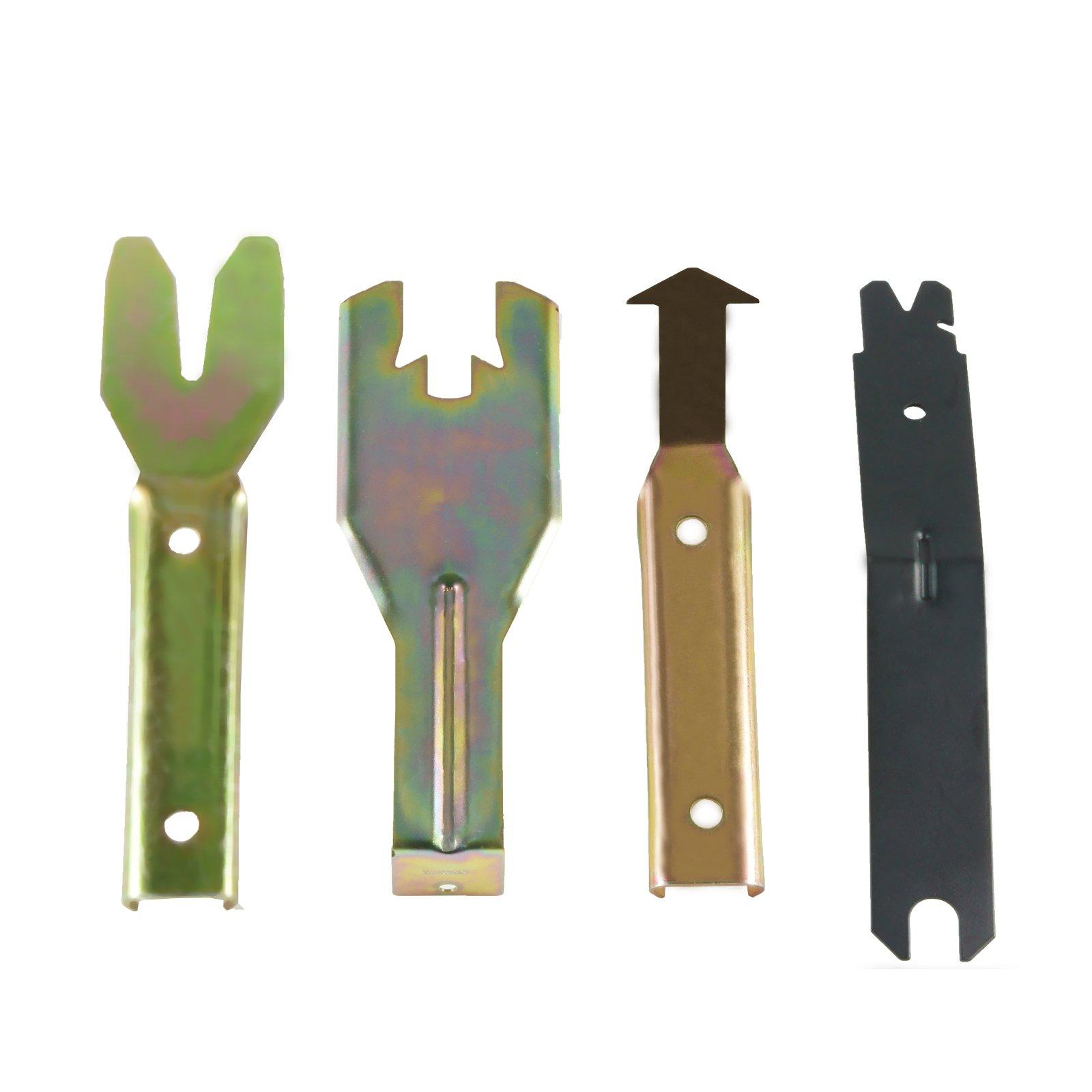 EWK Windshield, Door Handle, & Window Crank Remover Tool Set Body Panel Clip Spring