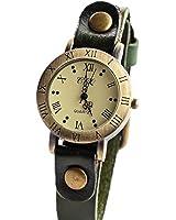 jowps アンティーク 風 レザー 腕時計 ペアウォッチ メンズ レディース兼用 本革