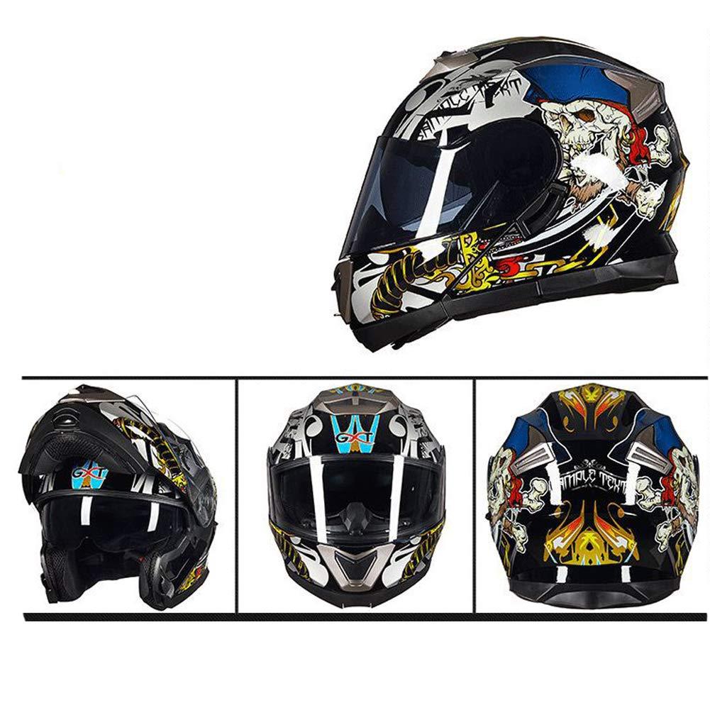 Off-Road Anti Fogging Casco de la Motocicleta Lente Doble para Adultos Casco de la Motocicleta de Cara Completa Casco de Motocross para Todas Las Estaciones Casco de Moto de Seguridad
