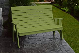 product image for Outdoor Winston Garden Bench - 5 Feet - Lime Green Poly Lumber