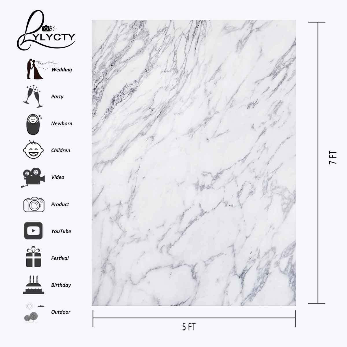 HD Marble Texture Backdrop 5x7ft Stylish Simplicity Photography Background Themed Party Photo Booth YouTube Backdrop LXMT934