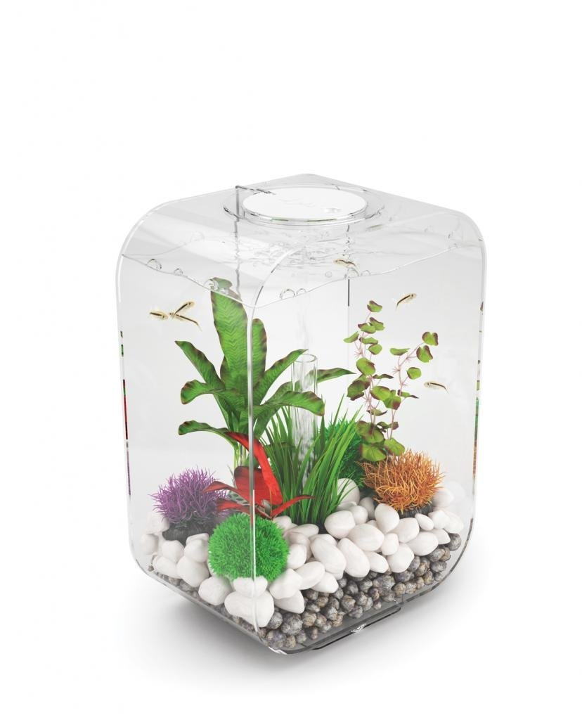 Clear 15 L Clear 15 L biOrb Life 15 45794 Aquarium with LED Light – 4 Gallon, Clear