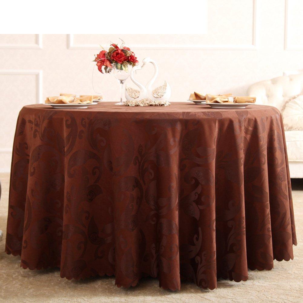B Durchmesser300cm(118inch) Mode verdicken Tuch Continental Hotel Tischdecke aus Baumwolle Tischdecken  Runde Tischdecke  Tischtuch  m weiße Tischdecken braun-B Durchmesser300cm(118inch)