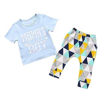 a53e02901 Amazon.com   Little Boys Girls  Letter Print T shirt Tops Geometric ...