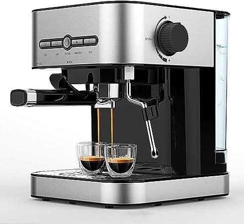 Cafetera/Máquina de café semiautomática de espuma de leche 1.4L Decoración de acero para el hogar, viajes y oficina, bar, hotel-Acero Inoxidable: Amazon.es: Hogar